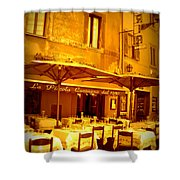Golden Italian Cafe Shower Curtain by Carol Groenen