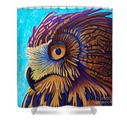 Golden Silence Shower Curtain by Brian  Commerford
