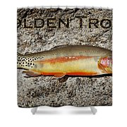 Golden Trout Shower Curtain by Kelley King