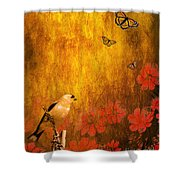 Golden Shower Curtain by Wingsdomain Art and Photography