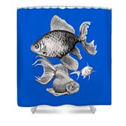Goldfish Shower Curtain by Sarah Batalka