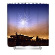 Gone Fishin Shower Curtain by Bill Cannon
