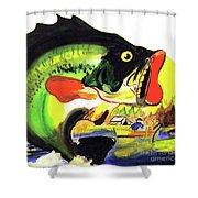 Gone Fishing Shower Curtain by Linda Simon
