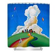 Good Day Sunshine Shower Curtain by Cindy Thornton