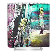 Good Lord Show Me The Way Shower Curtain by Miki De Goodaboom