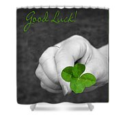 Good Luck Shower Curtain by Kristin Elmquist