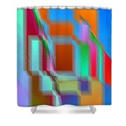 Good Vibrations Shower Curtain by Tim Allen