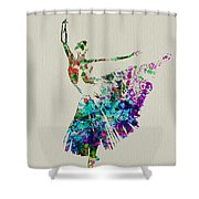 Gorgeous Ballerina Shower Curtain by Naxart Studio