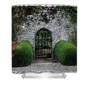 Gothic Entrance Gate, Walled Garden Shower Curtain by The Irish Image Collection