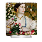Grace Rose Shower Curtain by Anthony Frederick Augustus Sandys