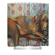Grace's Throne Shower Curtain by Kimberly Santini