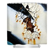 Graffiti Texture II Shower Curtain by Ray Laskowitz - Printscapes