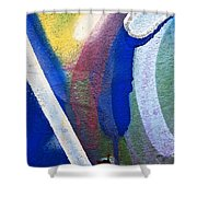 Graffiti Texture V Shower Curtain by Ray Laskowitz - Printscapes