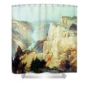 Grand Canyon Of The Yellowstone Park Shower Curtain by Thomas Moran