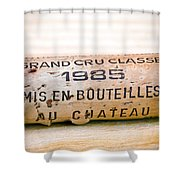 Grand Cru Classe Bordeaux Wine Cork Shower Curtain by Frank Tschakert
