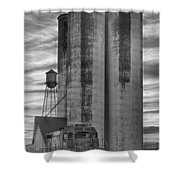 Great Western Sugar Mill Longmont Colorado Bw Shower Curtain by James BO  Insogna