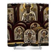 Greek Orthodox Church Icons Shower Curtain by David Smith