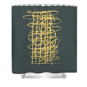 Green And Gold 1 Shower Curtain by Julie Niemela
