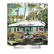 Green Cottage Shower Curtain by Marionette Taboniar