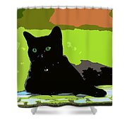 Green Eyes Shower Curtain by David Lee Thompson