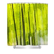 Green Forest Abstract Shower Curtain by Elena Elisseeva