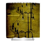 Green Light Shower Curtain by Susanne Van Hulst