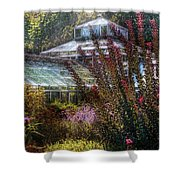 Greenhouse - The Greenhouse Shower Curtain by Mike Savad