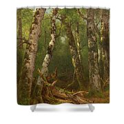 Group Of Trees Shower Curtain by Asher Brown Durand