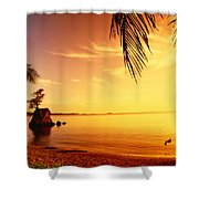 Guam, Agat Bay Shower Curtain by Dave Fleetham - Printscapes