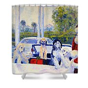 Guess Who's Coming To Dinner Shower Curtain by Terry  Chacon