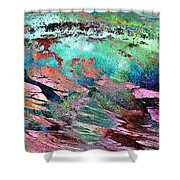 Guided By Intuition - Abstract Art Shower Curtain by Jaison Cianelli