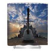 Guided-missile Destroyer Uss Higgins Shower Curtain by Stocktrek Images