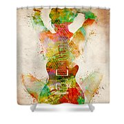 Guitar Siren Shower Curtain by Nikki Smith