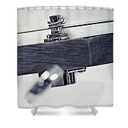 guitar V Shower Curtain by Priska Wettstein