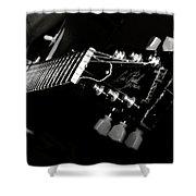 Guitarist Shower Curtain by Stelios Kleanthous