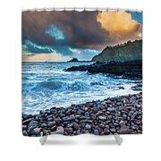 Hana Bay Pebble Beach Shower Curtain by Inge Johnsson