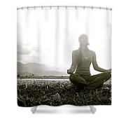 Hanalei Meditation Shower Curtain by Kicka Witte - Printscapes
