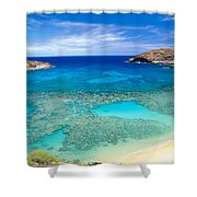 Hanauma Bay Shower Curtain by Peter French - Printscapes