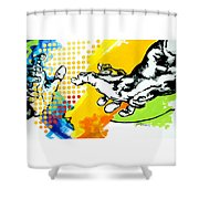 Hands Shower Curtain by Jean Pierre Rousselet