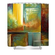 Haphazardous II By Madart Shower Curtain by Megan Duncanson