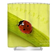 Happiness Shower Curtain by Angela Doelling AD DESIGN Photo and PhotoArt