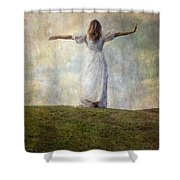 Happiness Shower Curtain by Joana Kruse