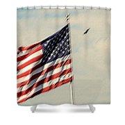 Happy Birthday America Shower Curtain by Susanne Van Hulst