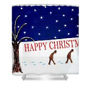 Happy Christmas 15 Shower Curtain by Patrick J Murphy