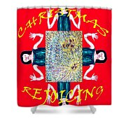 HAPPY CHRISTMAS 21 Shower Curtain by Patrick J Murphy