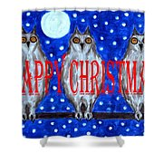 HAPPY CHRISTMAS 94 Shower Curtain by Patrick J Murphy