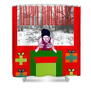Happy Holidays 63 Shower Curtain by Patrick J Murphy