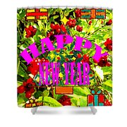 Happy New Year 6 Shower Curtain by Patrick J Murphy