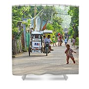 Happy Philippine Street Scene Shower Curtain by James BO  Insogna