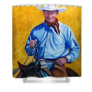 Happy Trails Shower Curtain by Shannon Grissom
